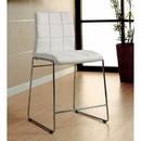 Benzara BM131372 Kona II Contemporary Counter Height Chair, White Finish, Set Of 2