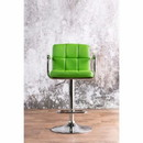 Benzara BM131404 Corfu Contemporary Bar Stool With Arm In Green Pu