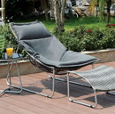 Benzara BM131487 Lili Contemporary 1Pc Patio Chair With 1Pc Ottoman