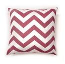 Benzara BM131595 Zoe Contemporary Pillow, Red Chevron, Set of 2