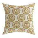 Benzara BM131624 FIFI Contemporary Big Pillow With pattern Fabric, Yellow Finish, Set of 2