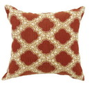 Benzara BM131629 ROXY Contemporary Small Pillow With pattern Fabric, Red Finish, Set of 2