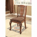 Benzara BM131798 Johannesburg I Traditional Side Chair, Brown Cherry, Set Of 2