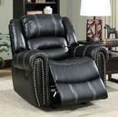 Benzara BM131820 Frederick Transitional Glider Recliner Single Chair, Black Finish