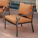 Benzara BM131838 Bonquesha I Contemporary Aluminium Patio Chair, Brown And Black