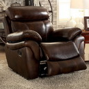 Benzara BM131879 Kinsley Transitional Recliner, Brown Finish