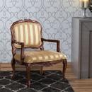 Benzara BM131907 Burnaby Traditional Occasional Chair, Antique Oak