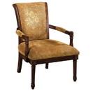 Benzara BM131908 Stockton Traditional Occasional Chair, Antique Oak