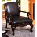 Benzara BM131911 Sheffield Traditional Occasional Chair, Antique Dark Cherry