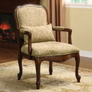 Benzara BM131919 Waterville Traditional Accent Fabric Chair With Pillow, Dark Cherry