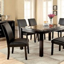 Benzara BM137543 Gladstone I Contemporary Dining Table With Black Marble Top