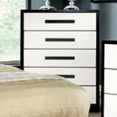 Benzara BM137892 Two Tone Wooden Chest, White And Black