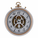 Benzara BM145704 Wall Mount Clock, White