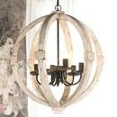 Benzara BM148635 Elegantly Framed Calder Wooden Chandelier