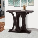 Benzara BM148762 Stylish Console Table With Base Shelf, Dark Brown