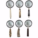 Benzara BM150859 Set of 6 Magnifying Glasses with elegant handle, Multicolor