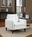 Benzara BM151918 Balin Accent Club Arm Chair, White, Polyurethane