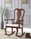 Benzara BM151940 Sheim Rocking Chair, Cream and Brown