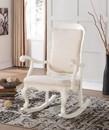 Benzara BM151941 Sharan Rocking Chair, White