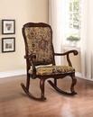 Benzara BM151942 Sharan Rocking Chair, Cherry Brown