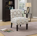 Benzara BM151950 Ollano Accent Chair, Pattern Fabric