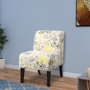 Benzara BM151951 Ollano Accent Chair, Pattern Fabric