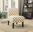 Benzara BM151953 Ollano Accent Chair, Pattern Fabric
