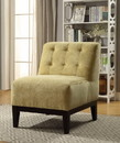 Benzara BM151966 Cassia Accent Chair, Yellow Fabric