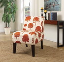 Benzara BM151972 Ollano Accent Chair, Tree Fabric Multicolor