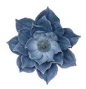 Benzara BM152388 Exquisitely Styled Resin Lotus Wall FlowerDecor, Blue