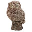 Benzara BM152725 Distinctive Winsome Furry Owl, Brown