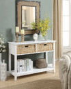 Benzara BM154247 Flavius Console Table with 2 Drawers, White