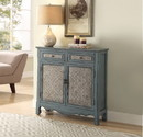 Benzara BM154262 Winchell Vintage Console Table, Antique Blue