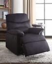 Benzara BM154282 Arcadia Relaxing Recliner In Black Woven Fabric