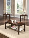Benzara BM154542 Docila 3Pc Pack Coffee/End Table Set, Walnut