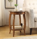 Benzara BM154575 1 Drawer Wooden Frame End Table with Open Shelf, Walnut Brown