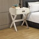 Benzara BM154580 Square End Table, White