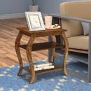Benzara BM154583 Becci End Table, Walnut