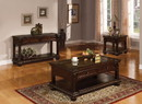 Benzara BM156056 Majestic Sofa Table With 2 Drawers, Cherry Brown