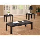 Benzara BM156129 Attractive Black Three Piece Occasional Table Set