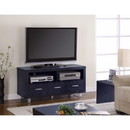 Benzara BM156142 Magnificent Black Contemporary TV Console with Shelves and Drawers