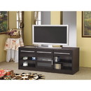Benzara BM156145 Stylish TV Console with CONNECT-IT Power Drawer-RTA, Brown