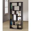 Benzara BM156232 Asymmetrical Cube Black Book Case with Shelves