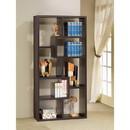 Benzara BM156233 Contemporary Asymmetrical Cube Bookcase, Brown
