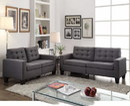 Benzara BM156309 Dashing Sofa In Gray Linen Fabric