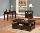 Benzara BM156753 2 Drawer Wooden Coffee Table with Bun Feet and Ring Pulls, Brown