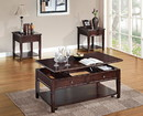 Benzara BM156758 Wooden Coffee Table with Lift Top, Walnut Brown