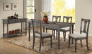 Benzara BM157230 Weathered Lookinhg Dining Table, Gray