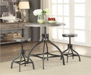 Benzara BM157261 Adjustable Counter Height & Stool Set, Gray Oak, 3 Piece Pack