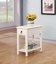 Benzara BM157268 Smart Looking Side Table, White